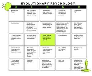 Evolutionary Psychology Bingo