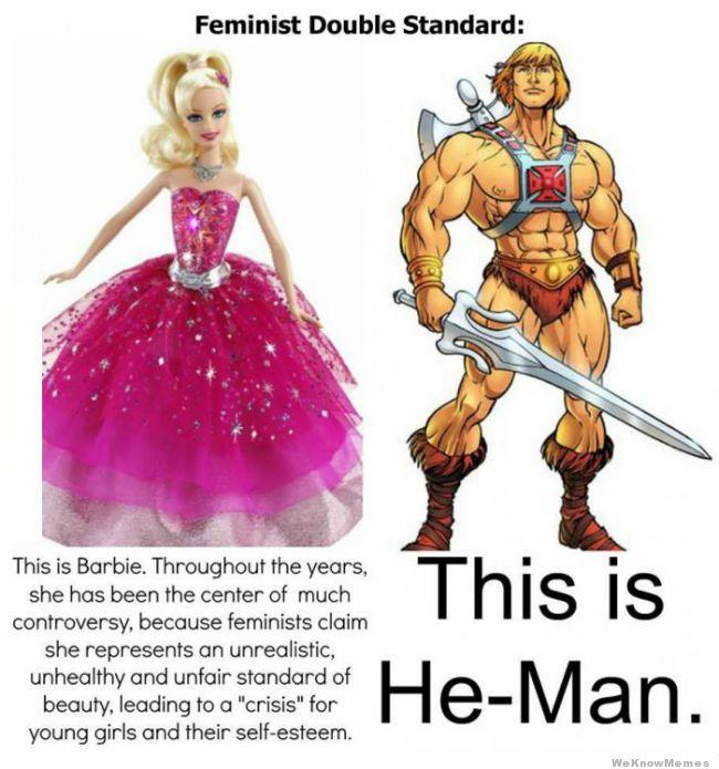 Barbie vs. He-Man