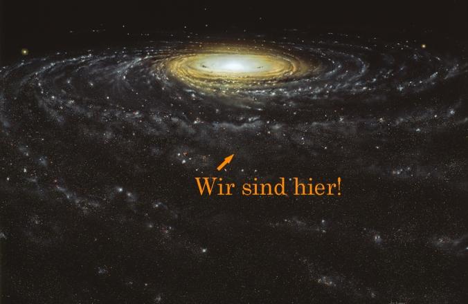 Galaxie und Erde