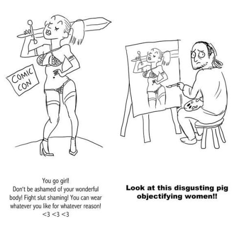 Dritte Welle Feminismus und Frauen zum Objekt machen