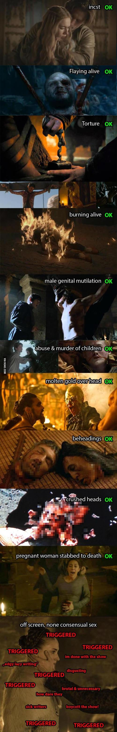 Game of Thrones Vergewaltigungen
