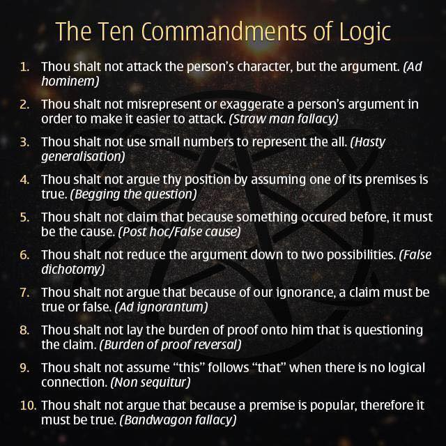 Die zehn Gebote der Logik