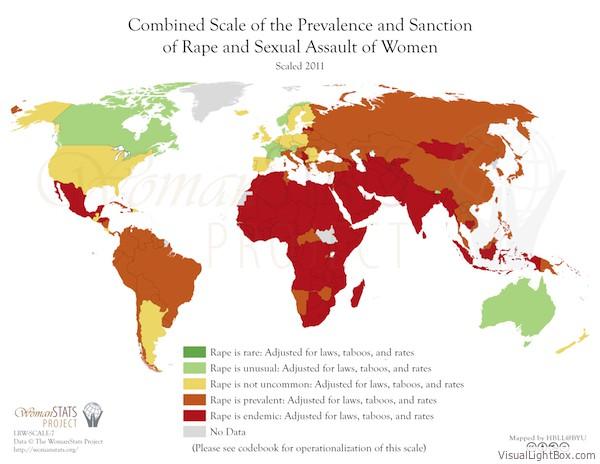 Vorkommen und Bestrafung von Vergewaltigung