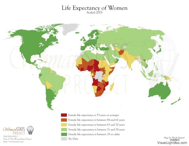 Lebenserwartung von Frauen