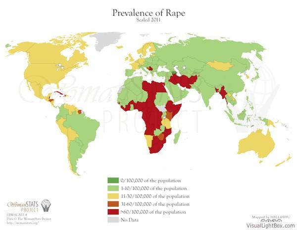 Häufigkeit von Vergewaltigungen
