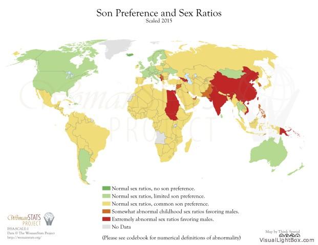 Präferenz von Söhnen und Geschlechterrate