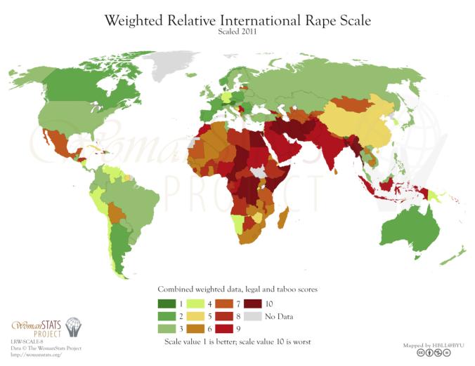Gefahr der Vergewaltigung weltweit
