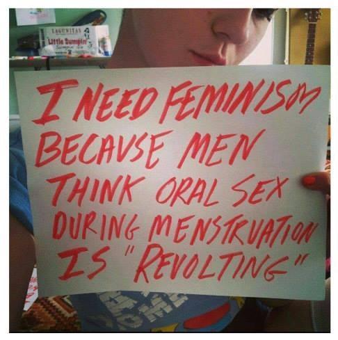 Menstruationsblut darf nicht ekelig sein