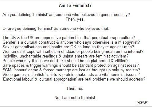 Feminist Ja oder nein