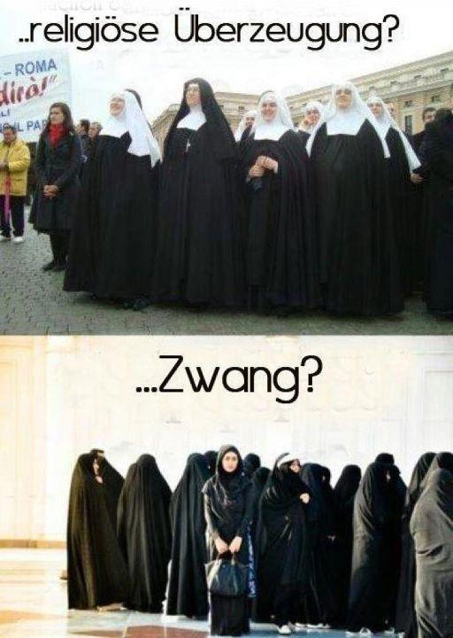 Nonnen vs. Burka