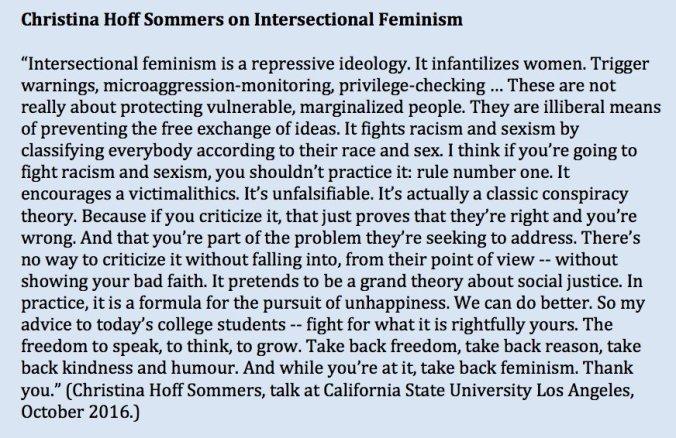 Hoff-Sommers intersektionaler Feminismus