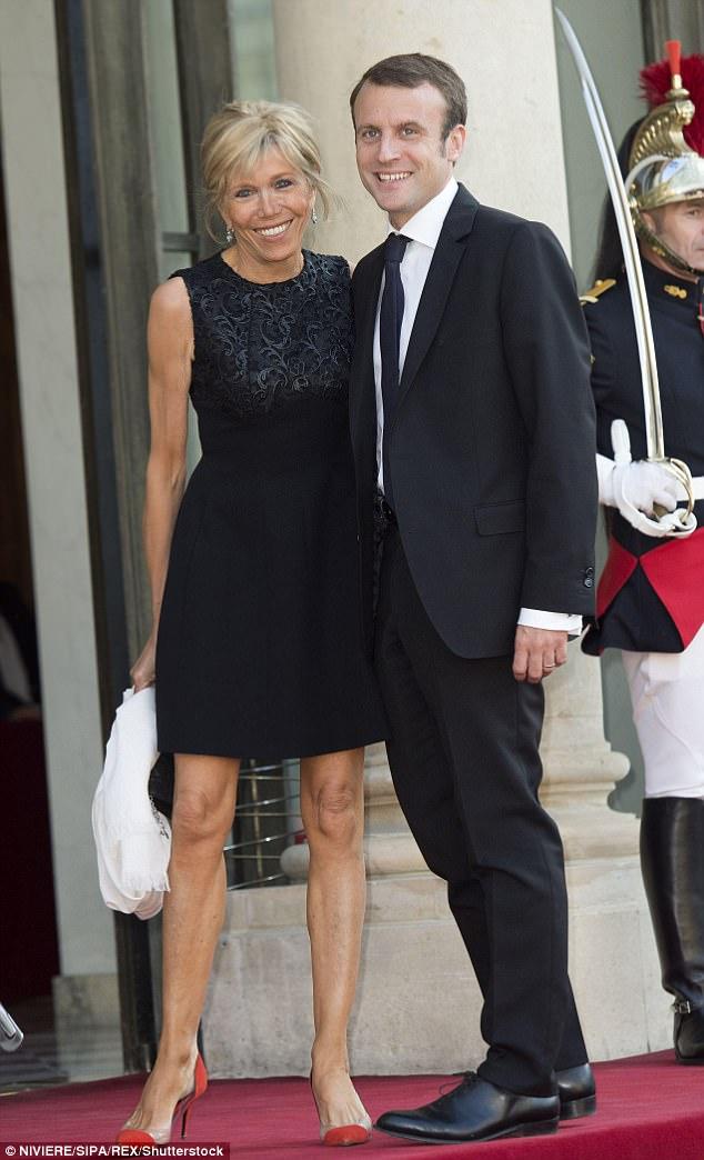 Macron mit Frau