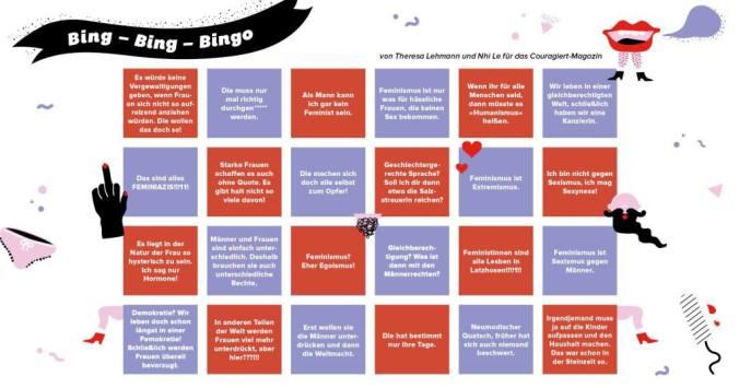 Antifeminismus bingo