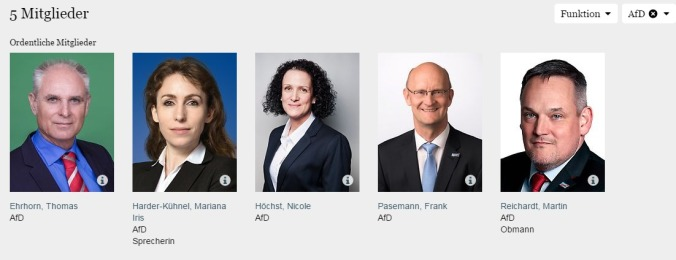 Deutscher Bundestag Ausschuss für Familie Senioren Frauen und Jugend AFD