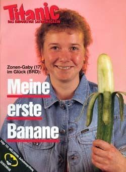 Gabi meine erste Banane