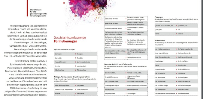 flyer geschlechtergerechte Sprache Hannover