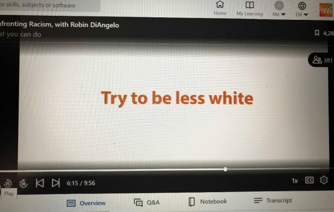 Try to be less white Coca Cola